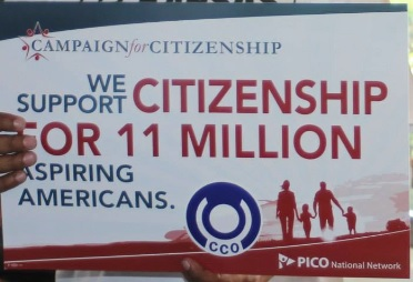 PICO Campaign for Citizenship sign