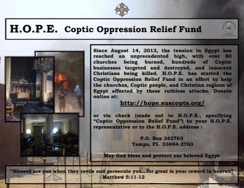coptic oppression relief fund