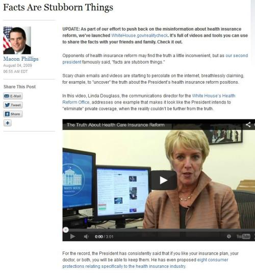 Linda Douglass Obamacare GUARANTEE 2 blog