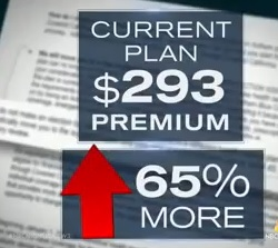 obamacare cost up 65%