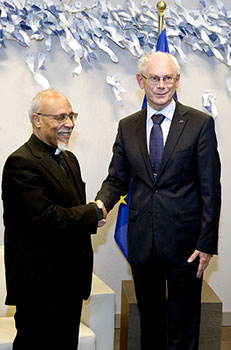 Bishop Kyrillos and Herman van Rompuy